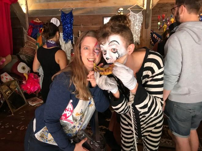 Lagunitas Beer mime artist and me