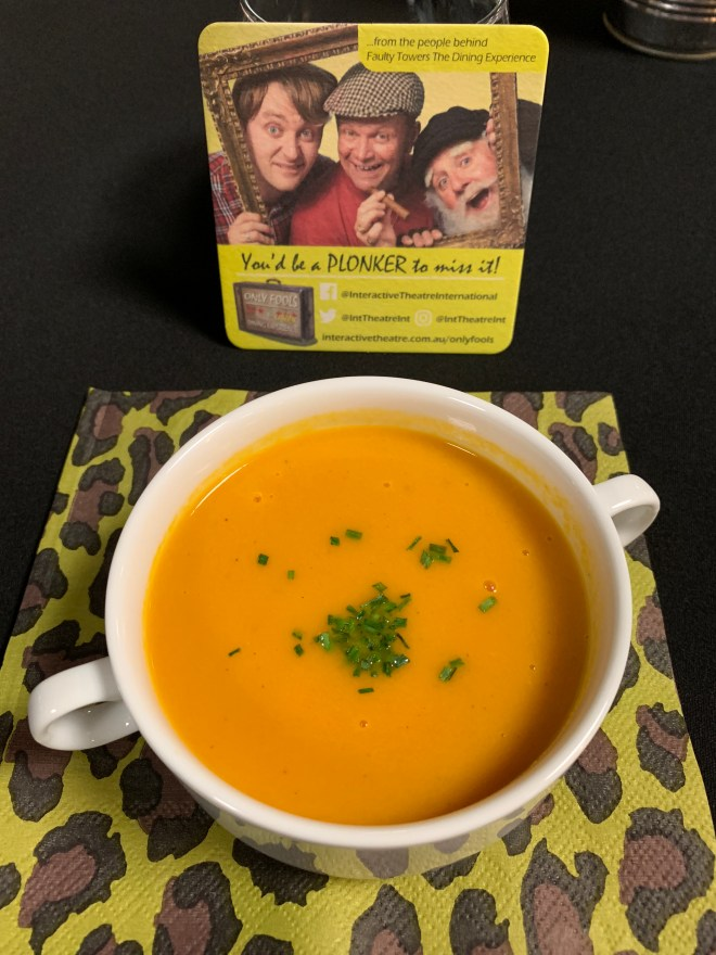 Only Fools The Cushty Dining Experience soup