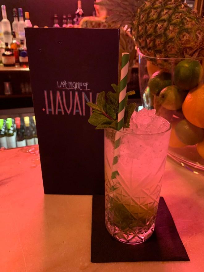 Last Nights of Havana cocktail menu