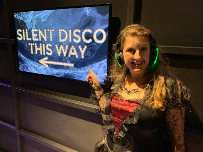 Madame Tussauds Silent Disco this way