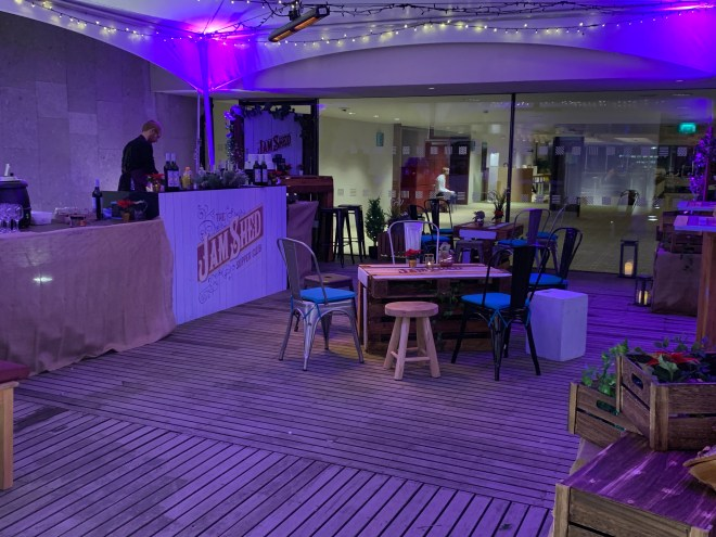 The Jam Shed Supper Club terrace