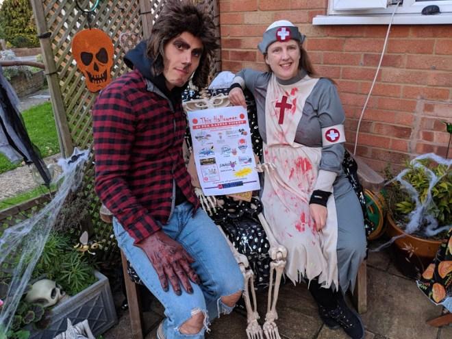 Halloween 2018 wearwolf and me