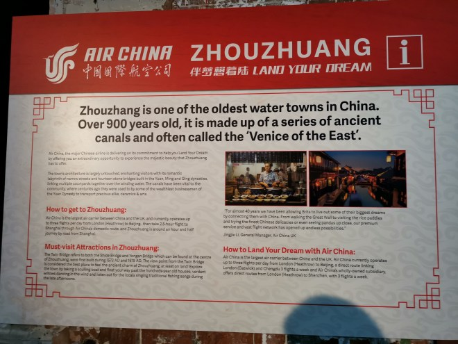 Air China Land of Luck - info Zhouzhuang
