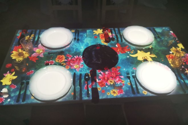 The Banquet of Hoshena table