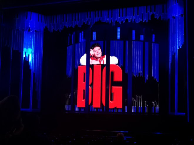 BIG The Musical stage set at Dominion Theatre