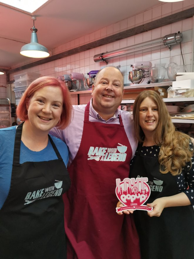Bake With A Legend James Hillery, Katie and me