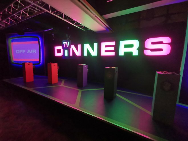 Gingerline's TV Dinners studio by Love Pop Ups London
