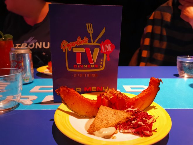 Gingerline's TV Dinners pumpkin by Love Pop Ups London