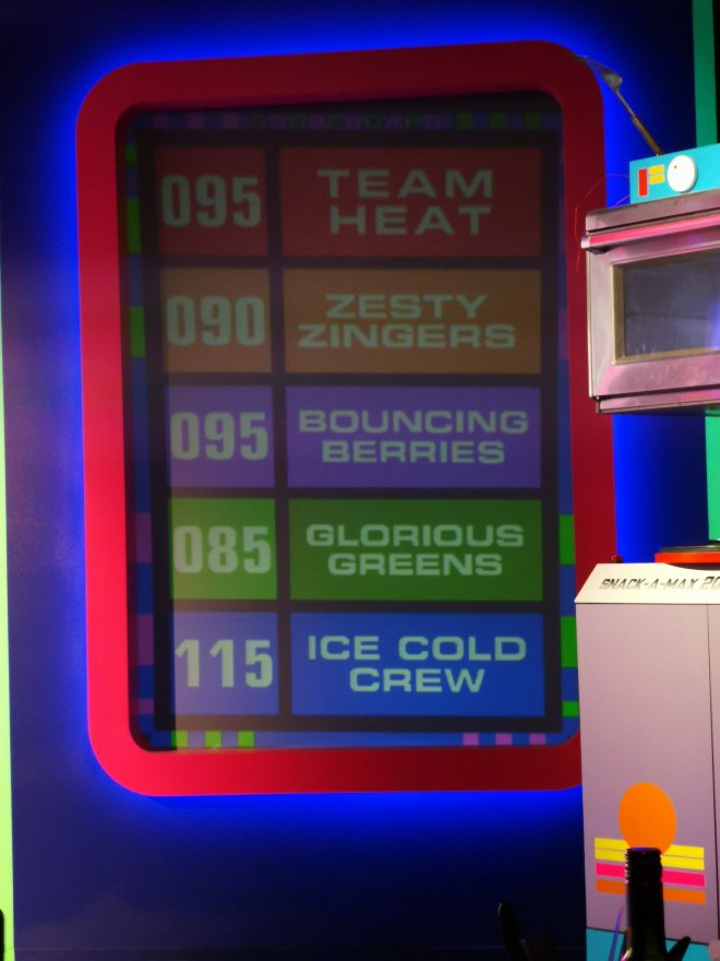 Gingerline's TV Dinners scoreboard by Love Pop Ups London