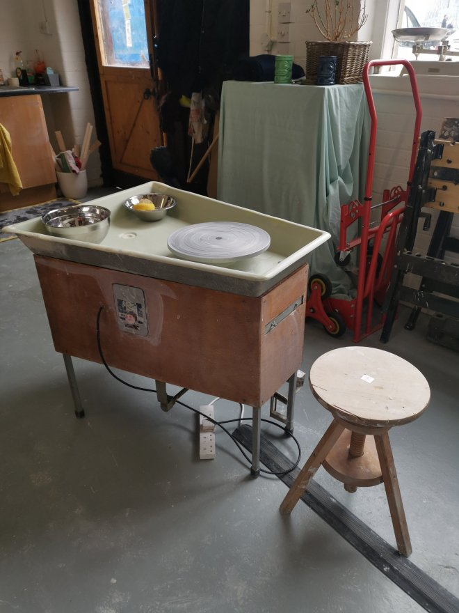 Amanda Cotton potters wheel