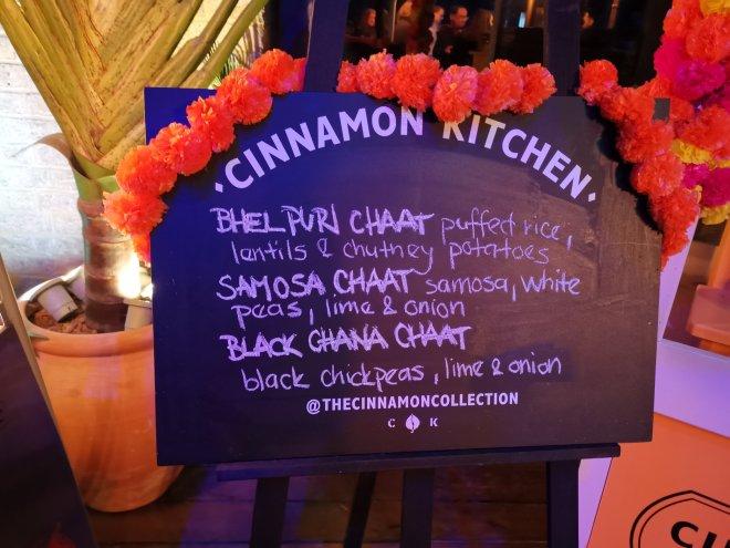 Cinnamon Kitchen Holi Menu