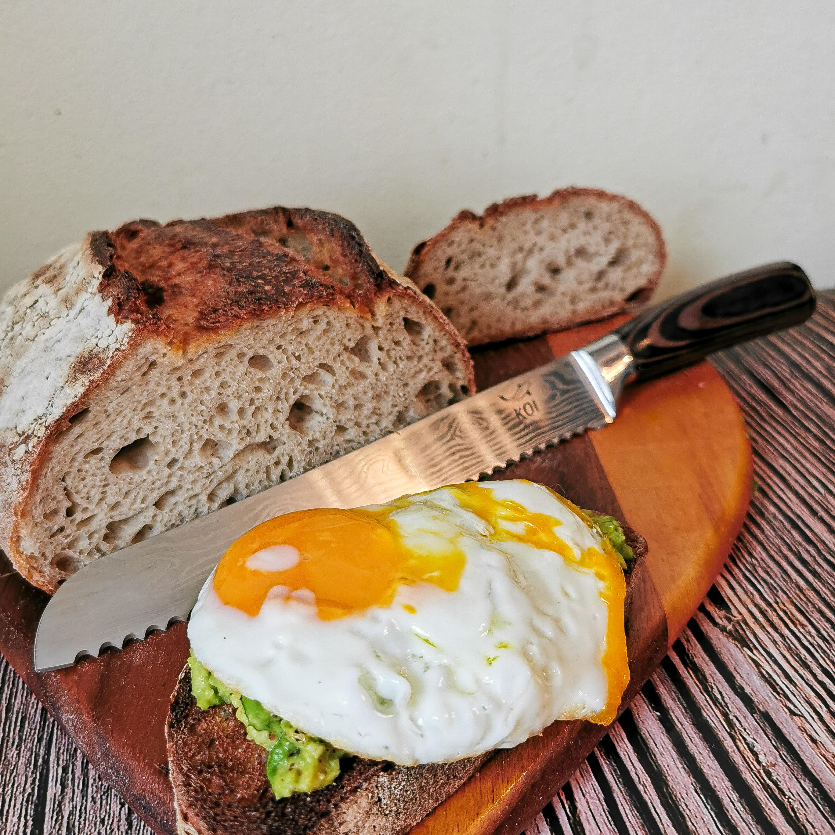 Koi bread knife