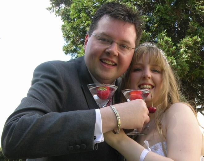 Chocface Jason and Joanne Wedding Day 070707 cheers