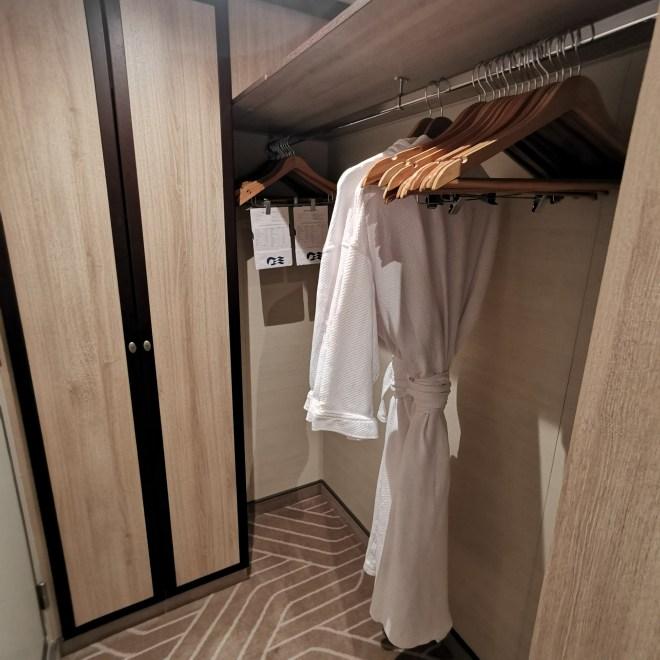 Sky Princess Mini Suite wardrobe space