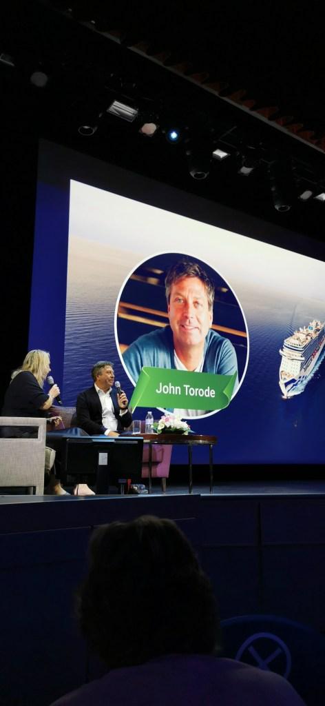 Sky Princess Culinary themed Cruise John Torodes speaking theatre deck 6