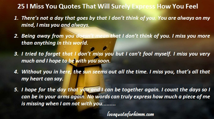 25 I Miss You Quotes That Will Surely Express How You Feel