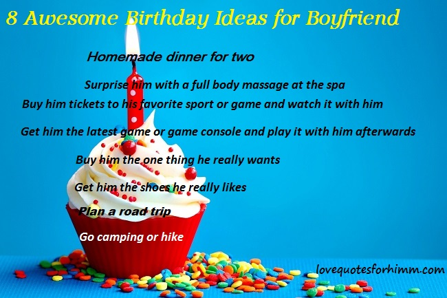 8 Awesome Birthday Ideas for Boyfriend
