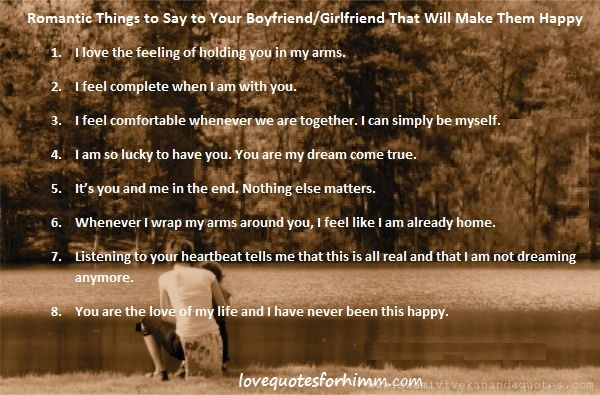 Romantic Things to Say to Your BoyfriendGirlfriend That Will Make Them Happy