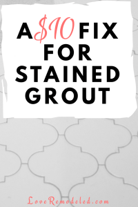 Painting Grout - Cheap and Easy!