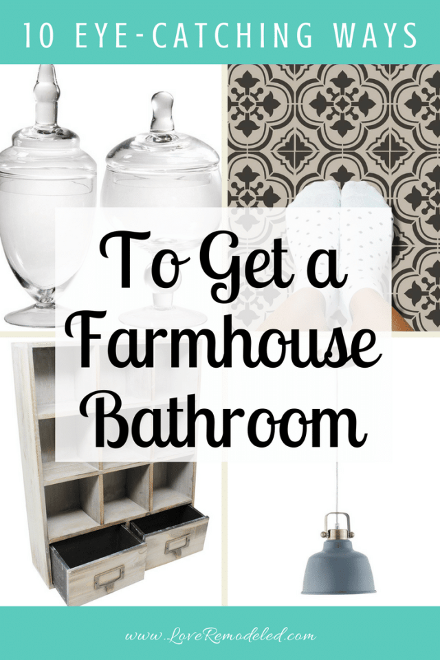 10 Eye Catching Farmhouse Bathroom Ideas