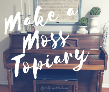 How To Make A Moss Covered Topiary