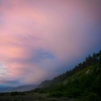 Sunset at Prairie Creek Redwoods State Park, Orick CA