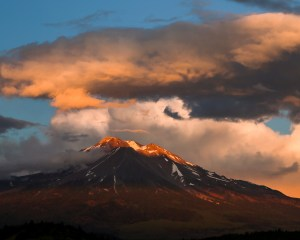 Sunset at Mt. Shasta, July 26, 2015