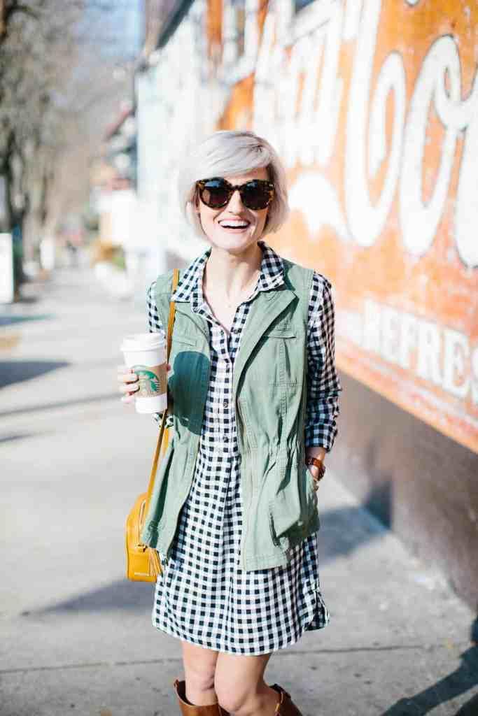 green utility vest - @loverlygrey