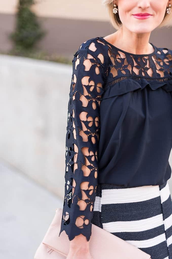 cutout blouse - @loverlygrey - www.loverlygrey.com
