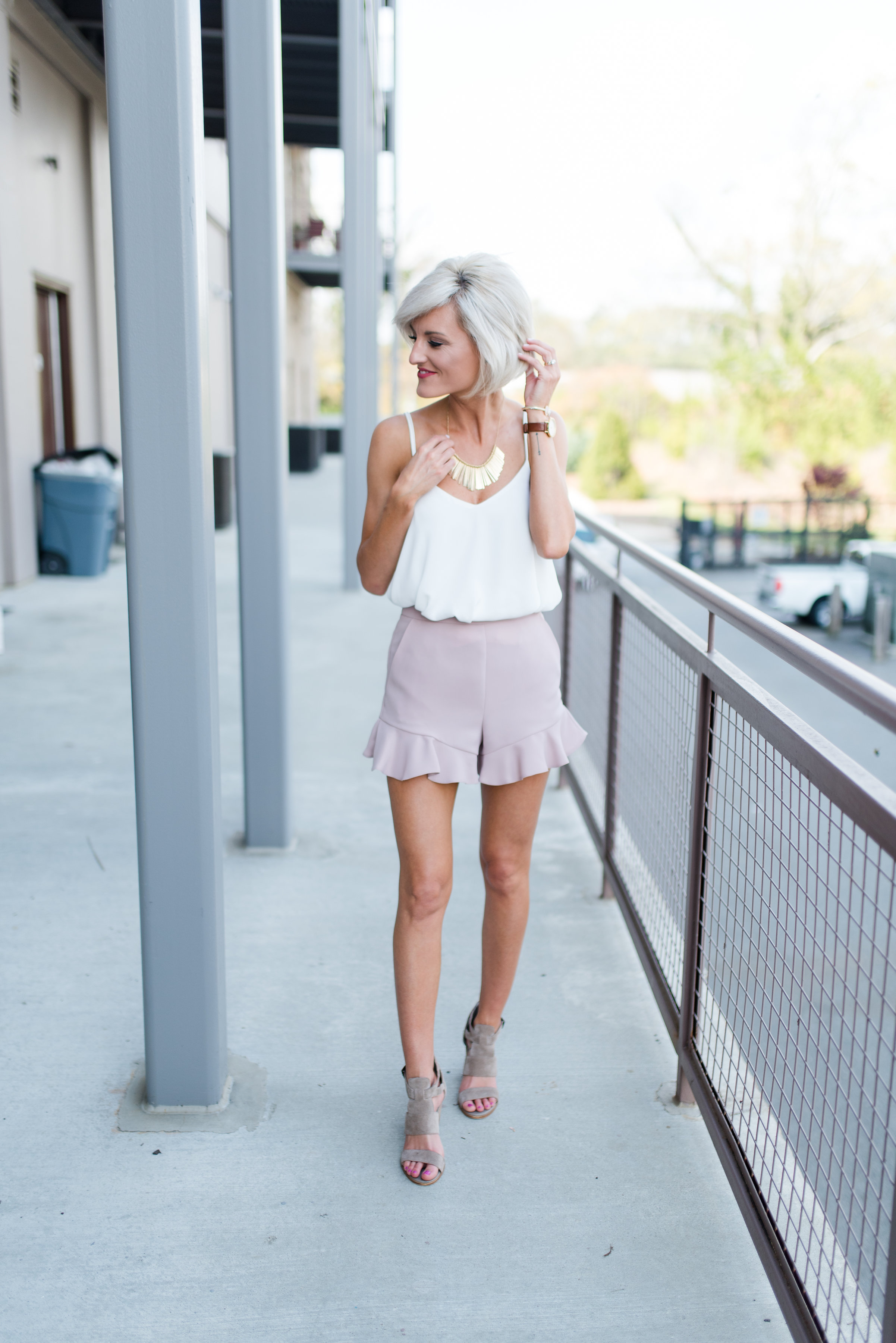The Perfect Pink Shorts  Loverly Grey