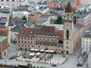 Passau view at overlook city hall