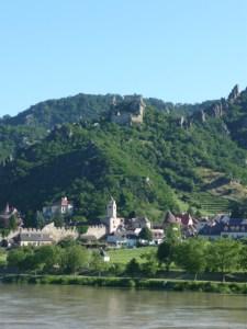 castle ruins on hillside