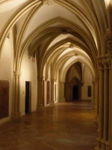 music night hallway inside church
