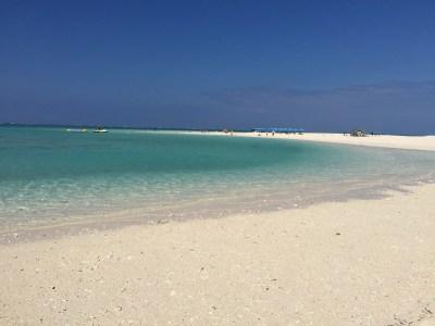 ハテの浜のビーチ