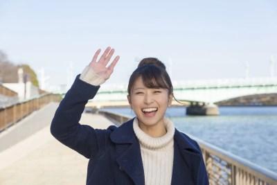 満面笑顔の女性