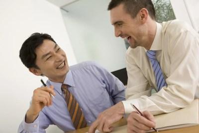 外国人と日本人の男性