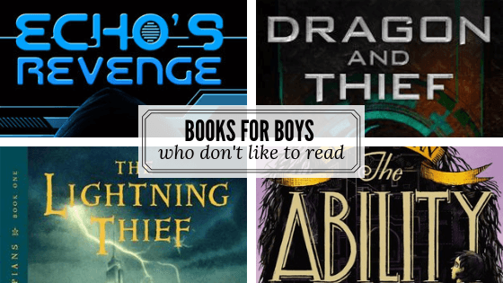Perfect books for boys who don't like to read