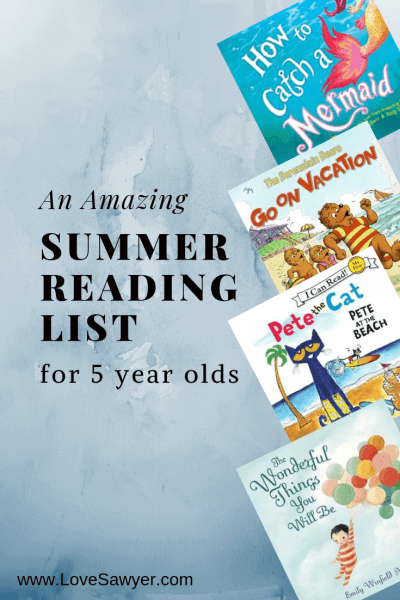 The Perfect Summer Reading List for 5 year Olds