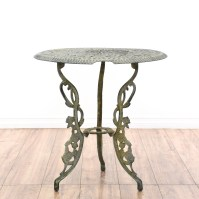 Round Wrought Iron Patio Table | Loveseat Vintage ...