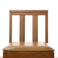 Mid Century Vinyl Seat Wood Chair | Loveseat Vintage ...