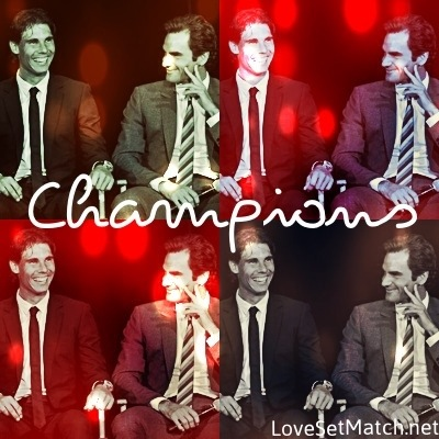 Roger and Rafa True Champions of Tennis !