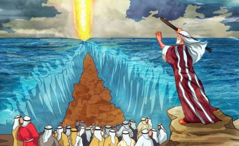 God's miracle- crossing the Red Sea