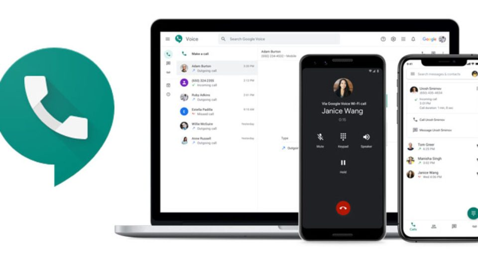 Use Google voice number
