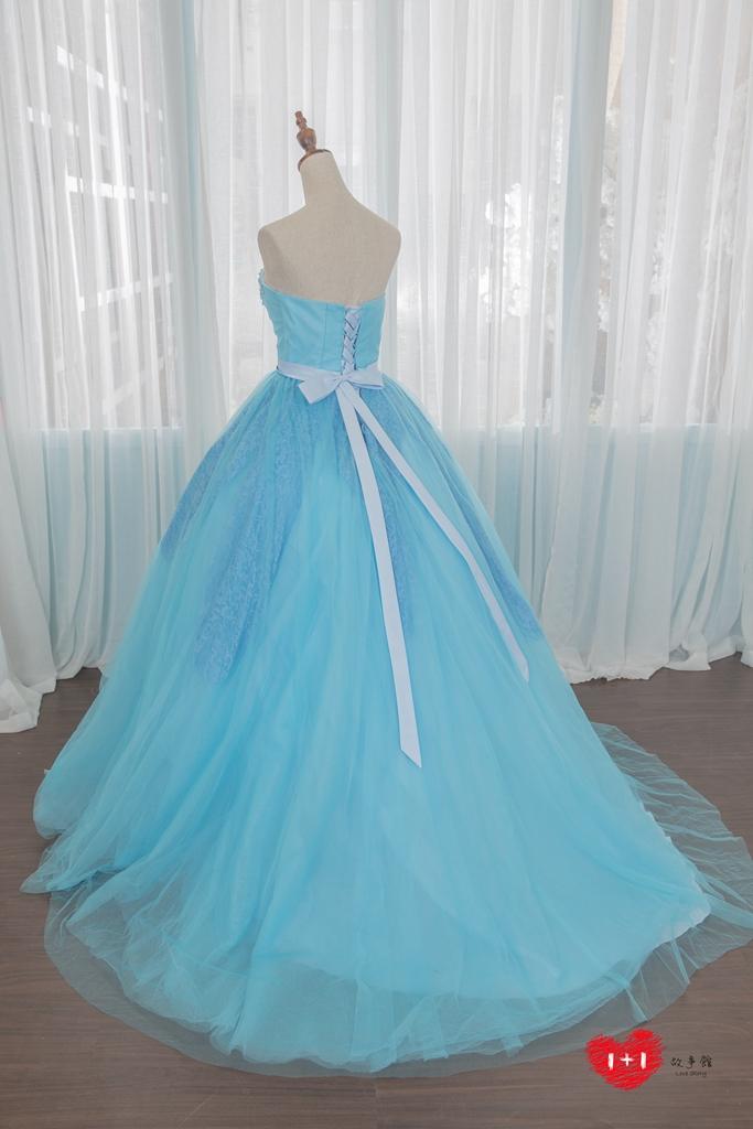 手工婚紗推薦:荷蘭蕾絲晚禮服