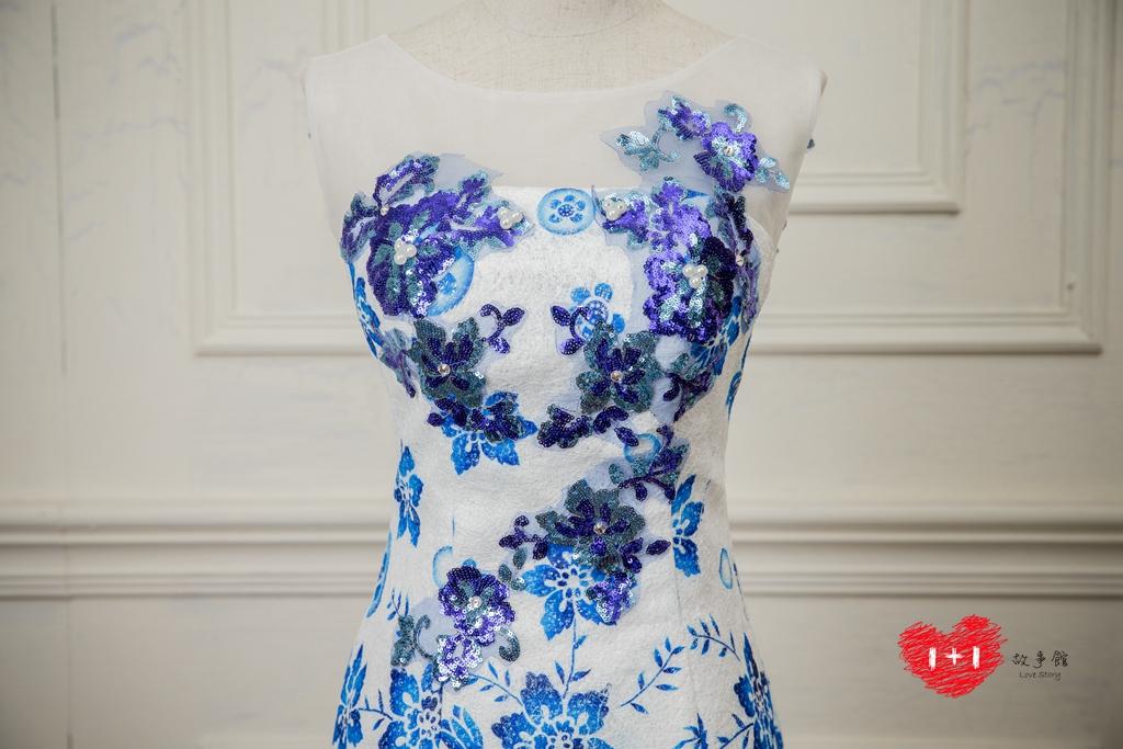 手工婚紗:浪漫蒂芬妮晚禮服