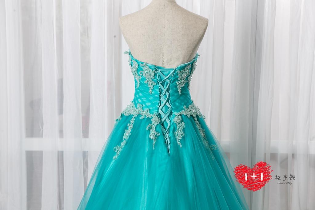 手工婚紗出租:惟愛之心的晚禮服