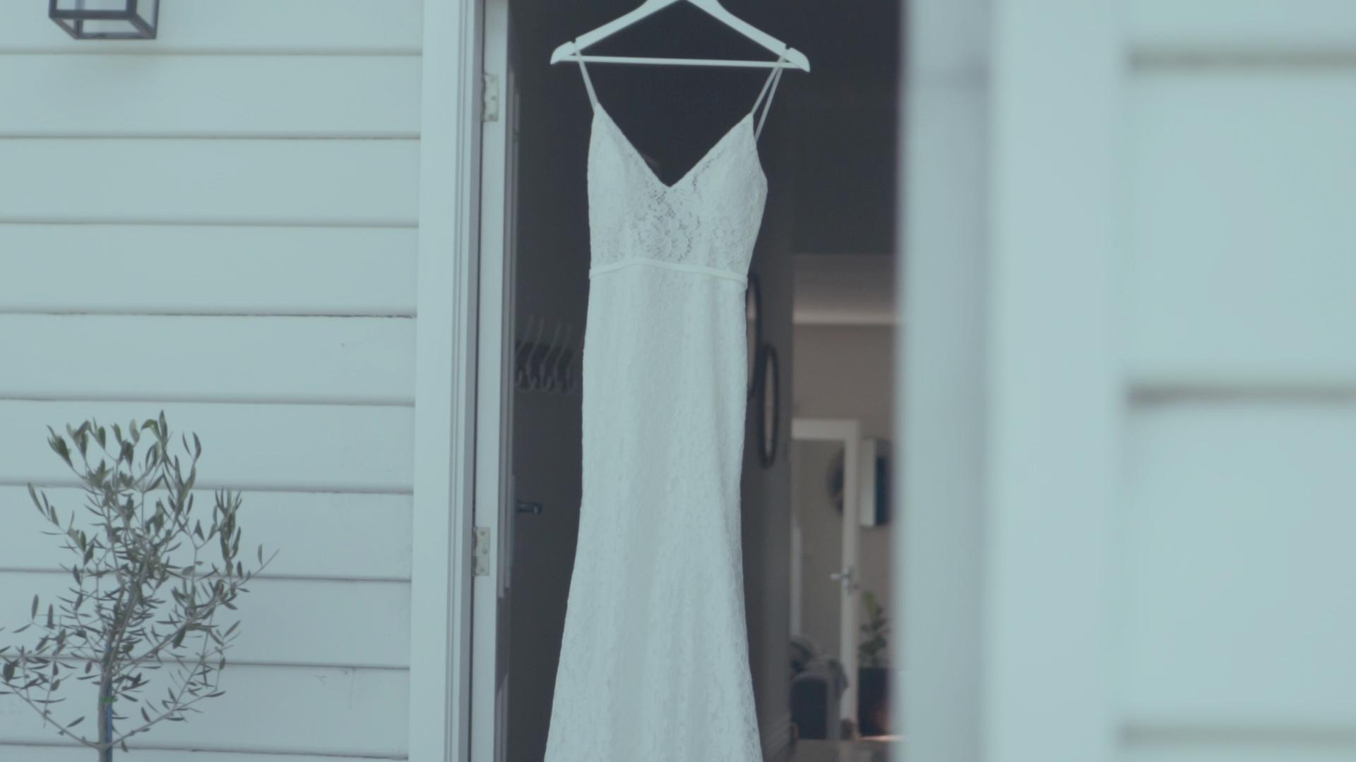 Georgina's beautiful wedding dress