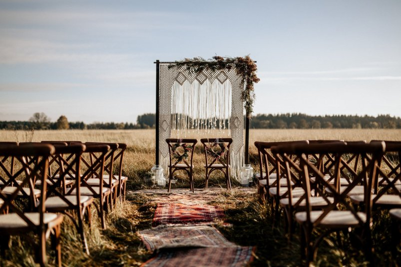 Macrame Arch Country Wedding