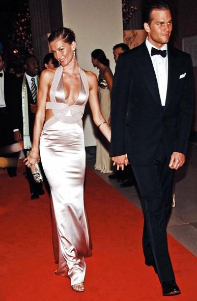 event shot of model Gisele Bundchen and football player Tom Brady *** Local Caption ***