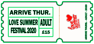 Love Summer Festival | Festival | Arrive Early | Adult | Thursday